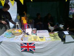 Our Fun filled stall and dedicated volunteers!
